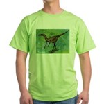 Troodon Dinosaur Green T-Shirt