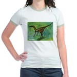 Troodon Dinosaur Jr. Ringer T-Shirt
