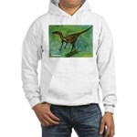 Troodon Dinosaur (Front) Hooded Sweatshirt