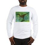 Troodon Dinosaur (Front) Long Sleeve T-Shirt