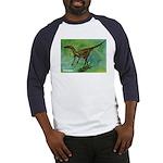 Troodon Dinosaur (Front) Baseball Jersey