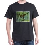Troodon Dinosaur (Front) Dark T-Shirt