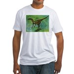 Troodon Dinosaur Fitted T-Shirt