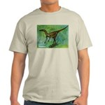 Troodon Dinosaur Ash Grey T-Shirt