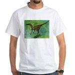 Troodon Dinosaur White T-Shirt