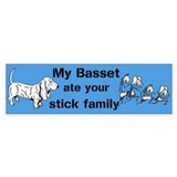 Custom Sticker Basset ate Stick Family