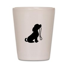 Dog and Leash Shot Glass