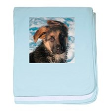 Luka puppy baby blanket