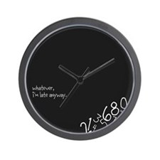 Unique Lately Wall Clock