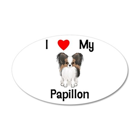 I love my Papillon (picture) 35x21 Oval Wall Decal
