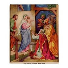 The Visit by the Three Wise Men Throw Blanket