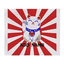 cute personalized lucky Japanese cat Stadium Blan
