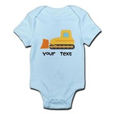 Personalized Bulldozer Infant Bodysuit