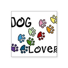 "Dog Lover Square Sticker 3"" x 3"""
