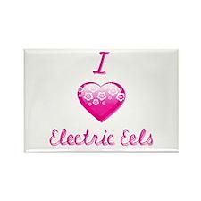 I Love/Heart Electric Eels Rectangle Magnet