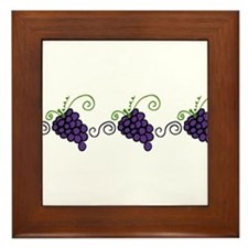 Napa Valley Grapes Framed Tile