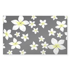 Bright yellow and white frangipani art Decal