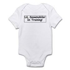 Lil Snowmobiler In Training! Infant Body Suit