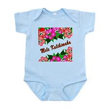 Mele Kalikimaka with flowers Infant Bodysuit