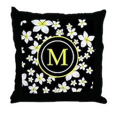 Monogram Bright yellow and white frangipani art Th