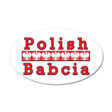 Polish Babcia Eagles 20x12 Oval Wall Decal