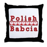 Polish Babcia Eagles Throw Pillow
