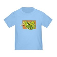 Green Tree Boa Kids T-Shirt T-Shirt