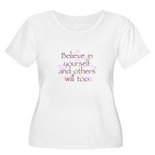 Believe in Yourself V1 Women's Plus Size Scoop Nec