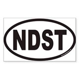 NDST Euro Oval Bumper Stickers