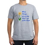 When Things Go Wrong V3 Men's Fitted T-Shirt (dark