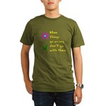 When Things Go Wrong V3 Organic Men's T-Shirt (dar