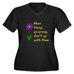 When Things Go Wrong V3 Women's Plus Size V-Neck D