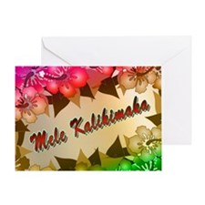 Mele Kalikimaka with flowers Greeting Card