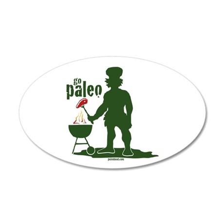 Paleo BBQ 20x12 Oval Wall Decal