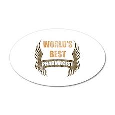 World's Best Pharmacist (Wings) 35x21 Oval Wall De
