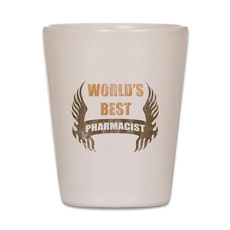 World's Best Pharmacist (Wings) Shot Glass