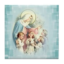 PrayforusOHolyMotherofGod Tile Coaster