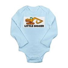 Cute Diggers Long Sleeve Infant Bodysuit