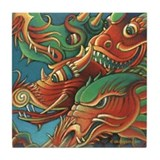 Dragons of Asia Tile Coaster