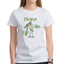 Never Give Up! Frog Choking Bird Tee