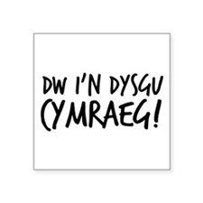 "Im learning Welsh Square Sticker 3"" x 3"""