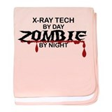 X-Ray Tech Zombie baby blanket