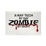 X-Ray Tech Zombie Rectangle Magnet