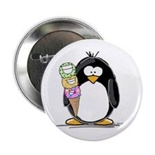 "Ice Cream Penguin 2.25"" Button (10 pack)"