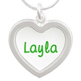 Layla Glitter Gel Silver Heart Necklace