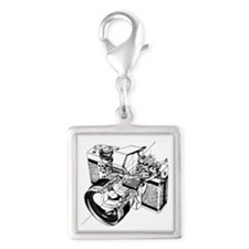 Funny Camera film Silver Square Charm