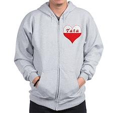 Tata Polish Heart Zip Hoodie