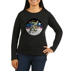 JoyWreath-2Schnauzers (uncr) Women's Long Sleeve D
