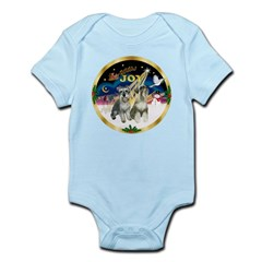 JoyWreath-2Schnauzers (uncr) Infant Bodysuit