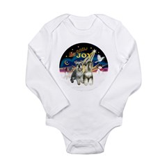 JoyWreath-2Schnauzers (uncr) Long Sleeve Infant Bo